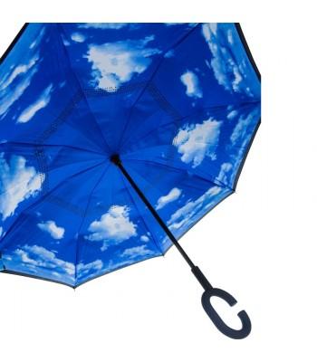 Dubultā pārklājuma apgrieztais lietussargs