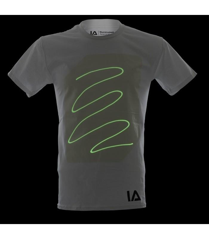 Interaktīvais tumsā spīdošais t-krekls (balts)