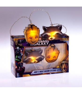 Groot and Rocket Guardians of the Galaxy gaismiņas