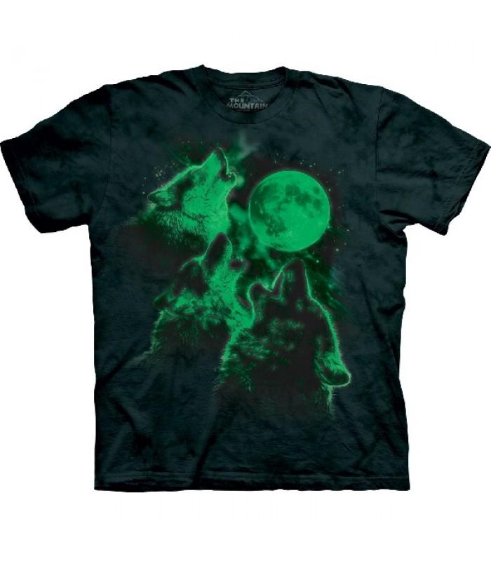 T-krekls Tumsā spīdošie vilki