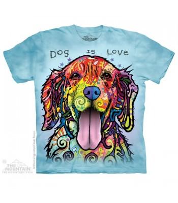 T-krekls Krāsainais suns Dog is love